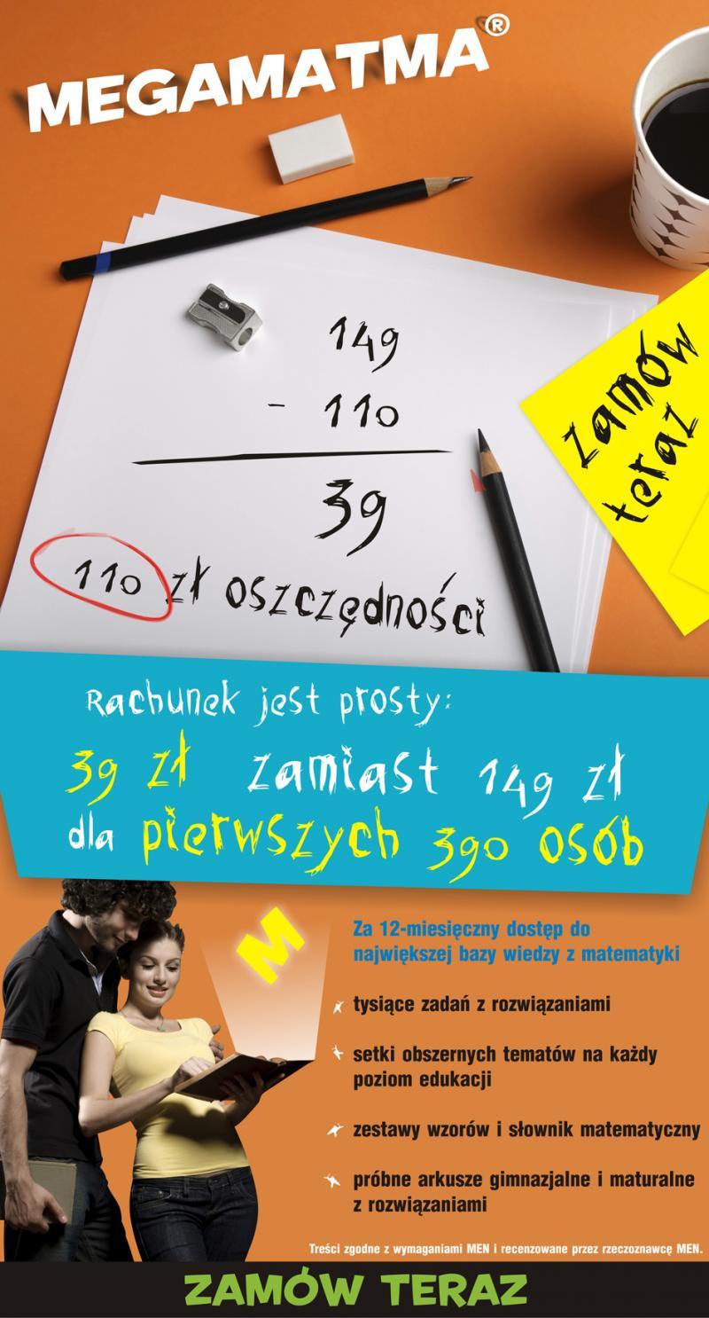 Jeśli nie widzisz promocji, kliknij w link poniżej i przejdź na stronę www.megamatma.pl